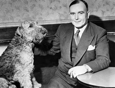 Albert Pierrepoint with his dog