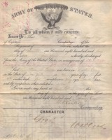 Army Discharge for Sergeant Major Pierre A. Banker