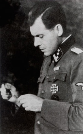 SS-Hauptsturmführer Josef Mengele; Mengele served in the 5th Waffen-SS Division Wiking, winning the Iron Cross 1st Class, before transferring to Auschwitz and subsequently Gross-Rosen.  After the war, many German sources attempted to separate the frontline SS from those that served in the camps.  That was an incorrect assertion as hundreds of SS officers transferred back and forth between the two.