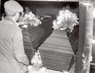 Caskets of Ohlendorf and Braune after Both Were Executed in 1951