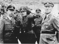 Himmler, SS-Sturmbannführer Franz Ziereis (Mauthausen) and Kaltenbrunner