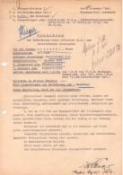 Vorschlag zur Beförderung (Proposal for Promotion) for Franz Grassmehl