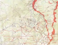The Battle of the Bulge Northern Route Map