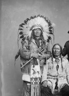 Warriors fighting the 1874 Yellowstone Expedition