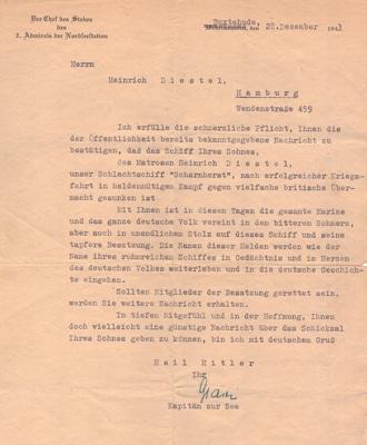 Scharnhorst Brief 28. December 1943