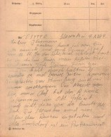 Sturmbrigade Dirlewanger Letter dated December 4, 1944