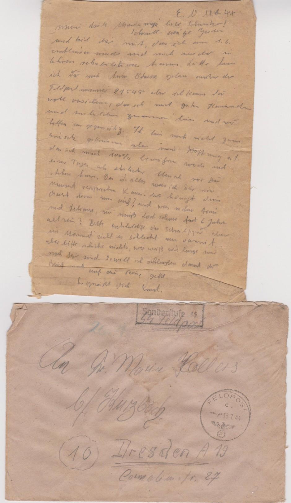 Sonderkommando Letter July 11 1944