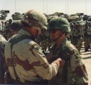 """Spartan 3"" Receiving his Combat Infantryman's Badge"