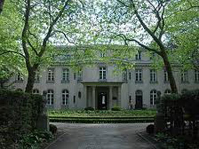 The site of the infamous Wannsee Conference (Wannsee-Konferenz) in a suburb of Berlin